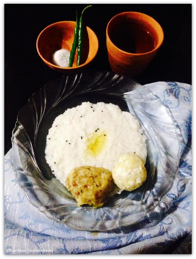 Mushy overcooked rice with ghee