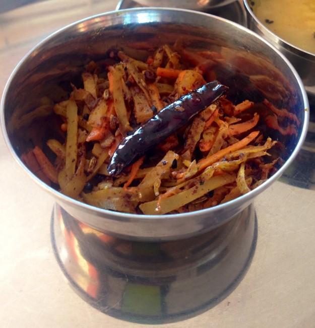 Bengali stir fry with potato peels